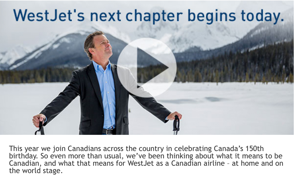#Canada 150 West Jet wants to claim to be the #mostCanadian airline