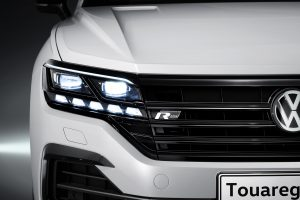 Volkswagen Touareg has micropixel HD headlights which add driver assist visibility