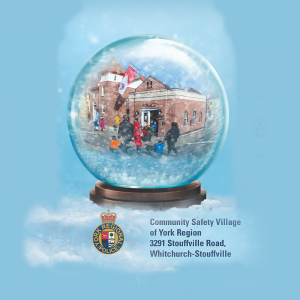 York Regional Police, Fire and EMS teach youth bike and other safety lessons at the Community Safety Village holiday snowglobe