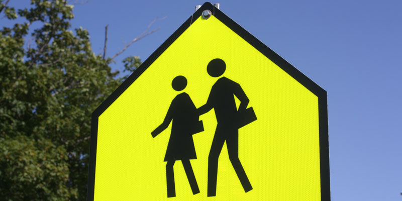 Be Alert back to school signs are eveywhere