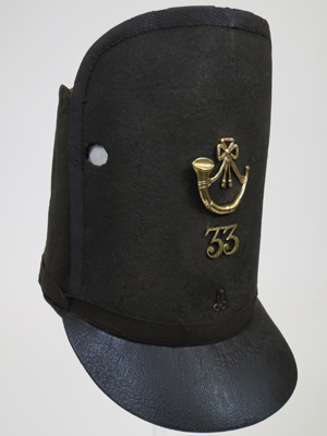 Military hat proved to be a lucky soldier's Shako cap from Battle of Waterloo